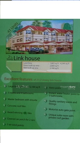2.5 Storey Terrace House| Lorong Kingfisher Sulaman 2  102456272