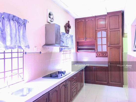 Section 8 Bandar Baru Bangi Extended Kitchen Cabinet with Concrete Table Top + Hook + Hob   130376352
