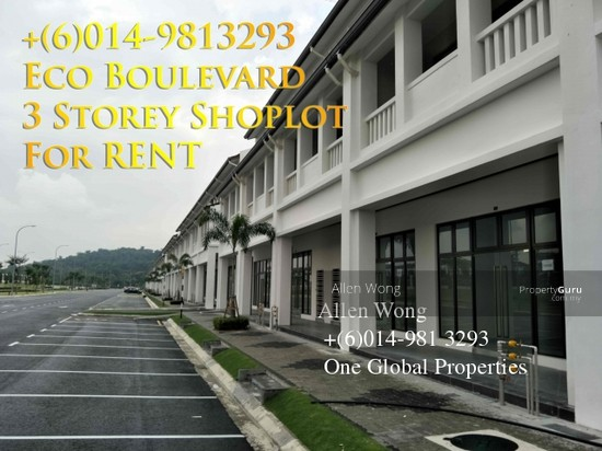 Eco Boulevard - 3 Storey Shoplot@Eco Botanic For RENT Eco Boulevard - 3 Storey Shoplot@Eco Botanic For R 118496633