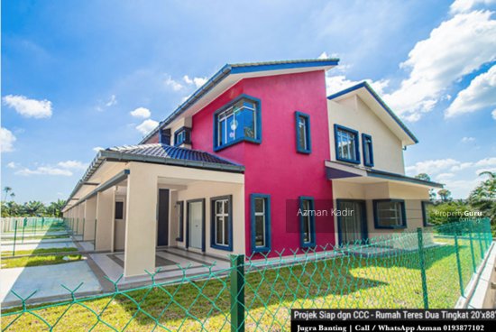Newly completed with CCC 2 Storey Terrace Jugra Banting  146434053