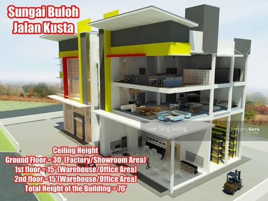 Sungai Buloh Factory Showroom For RENT  134049808