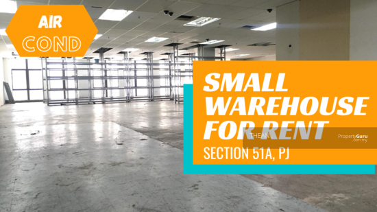 Section 51A Air- conditioned Small Warehouse in PJ 151200547