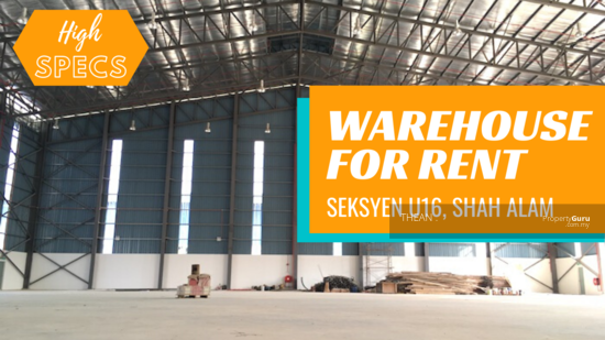 BUKIT JELUTONG, SHAH ALAM SECTION U16 NEW HIGH SPECIFICATIONS FACTORY HIGH SPECS WAREHOUSE FOR RENT IN SEKSYEN U16 SHAH ALAM  149498446