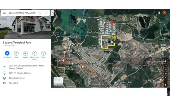 Taman Saujana Rawang 10.45 acres Industrial land for sale  149589936