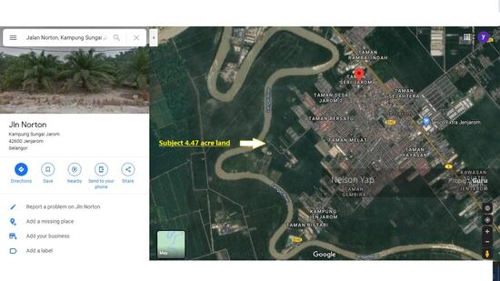 Jenjarom Selangor 4.47 acre freehold agriculture zone industrial land for sale  156333401