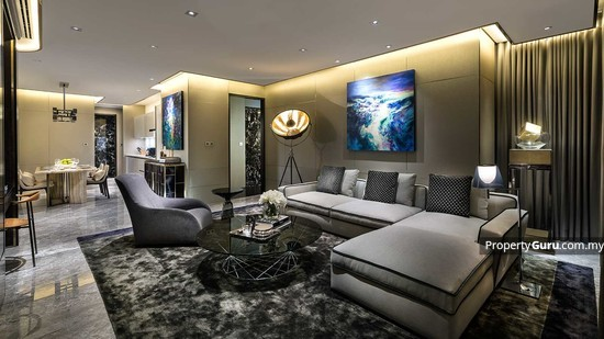 Four Seasons Place Living and Dining  126251129