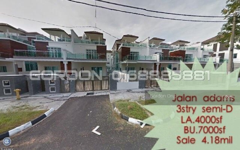 3 storey terrace house semi d lot at jalan adams jalan for 3 storey terrace house