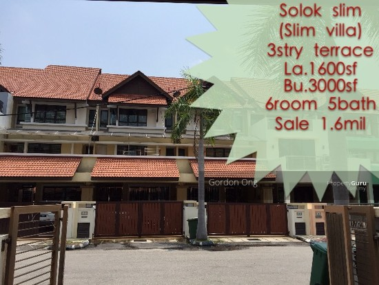 3 storey terrace house at slim villa solok slim jelutong for 3 storey terrace house