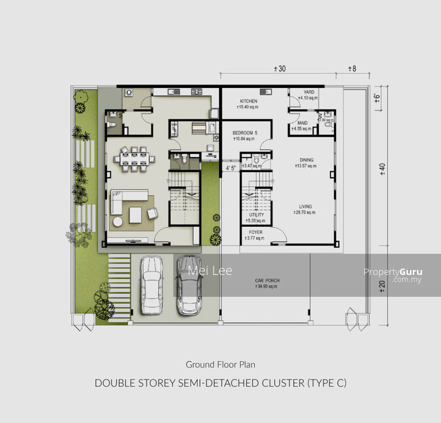 Semi Detached House Plans Malaysia