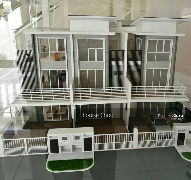 Modern luxury freehold 3 storey terrace house at seri for 3 storey terrace house for sale
