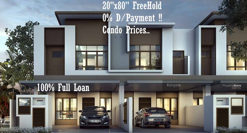 New 2 storey house freehold 22x80 near puchong cheras sri for 2 storey house for sale