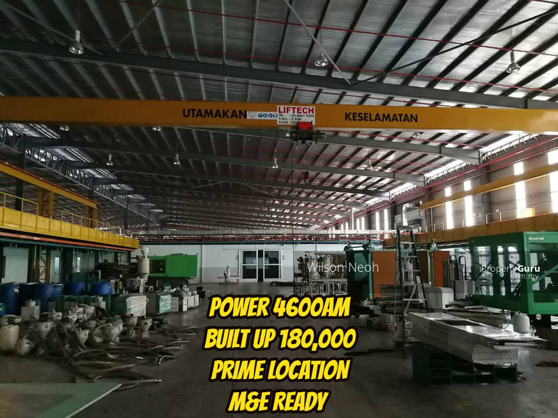High Tension power 4600ampere with overhead crane+clean room sale $166psf  only