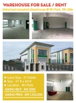 Detached Industrial Warehouse at 9th Mile Kuching