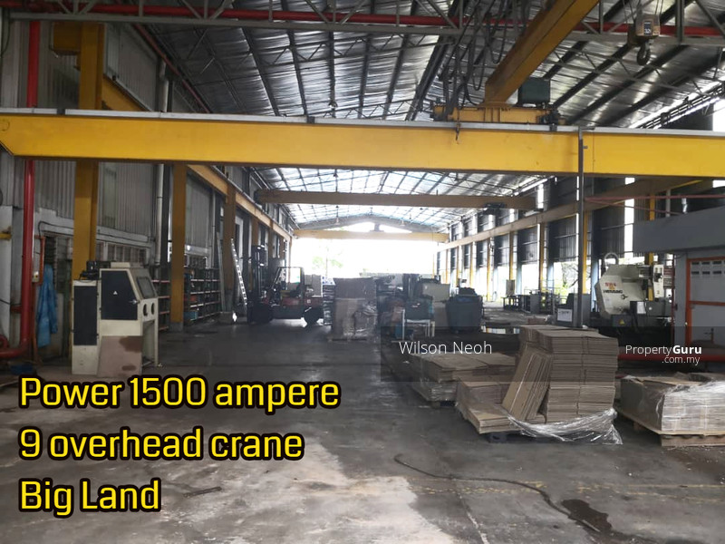 9x Overhead Crane, 1500 Ampere power- Big Land 2 Acre- 25min to seaport