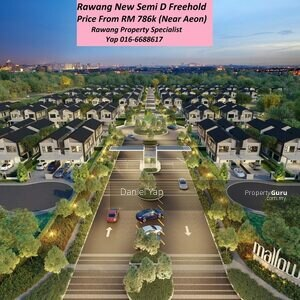 For Sale - Semi D Rawang 0% Down Payment Freehold Near Aeon