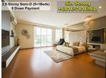FULL LOAN Completed 2. 5-Storey Semi-D Super Big Master Bedroom Layout