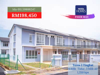 For Sale - Pasir Mas. Rumah Cantik dan Baru. Harga Terendah Masa Terhad.