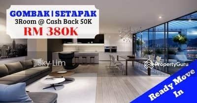 Dijual - KL Setapak Gombak READY MOVE IN CASH BACK 80K freehold