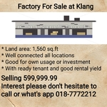 Factory For Sale at Klang