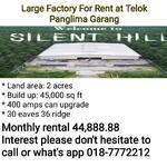 Large Factory For Rent at Telok Panglima Garang
