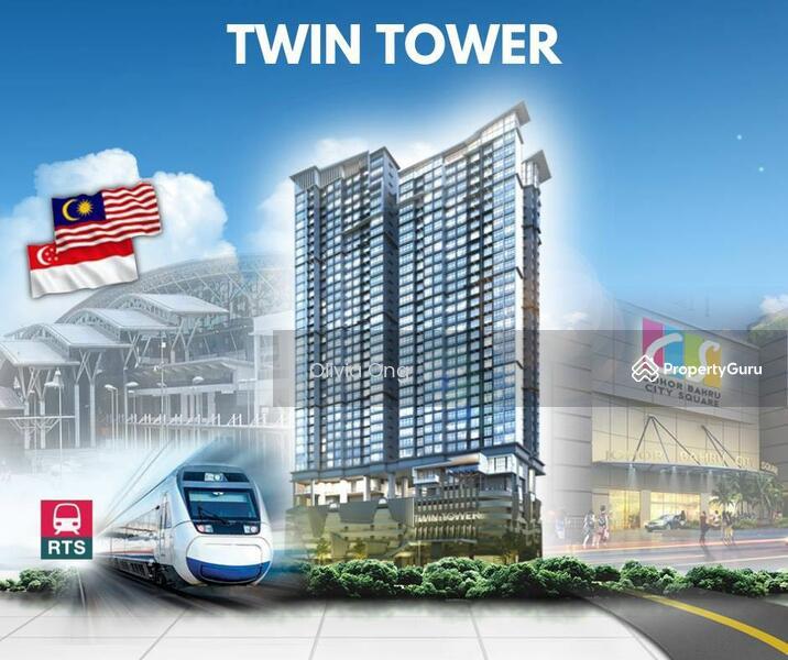 Twin Tower Freehold @ Bukit Chagar JB Nearest CIQ 3mins walking distance #167323382