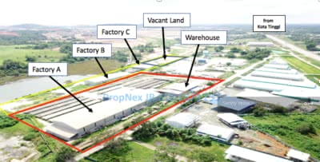 For Rent - Pengerang Bukit Gelugor Industrial Factories