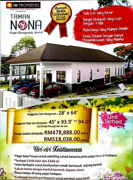 Taman Nona Guar Chempedak Kedah 5 Bilik Tidur 1792 Kps Banglo Vila Dijual Oleh Nadzirah Kamarul Zaman Rm 478 888 31769637