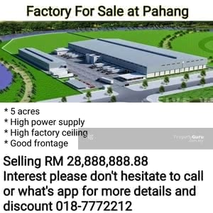 For Sale - Factory For Sale at Pahang
