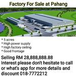 Factory For Sale at Pahang