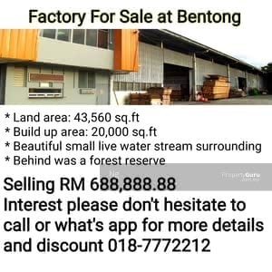For Sale - Factory For Sale at Bentong