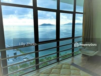 For Rent - Beautiful Penthouse , Full Sea View | 3 storey High end Condo | The Peak Vista B, KK City