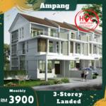 Ampang 3storey landed 3min MRR2