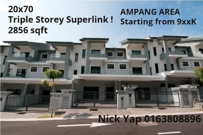For Sale - (HOC Going to End) Double Storey Superlink 22x65-22x80 (Covered with Forest Reserved)