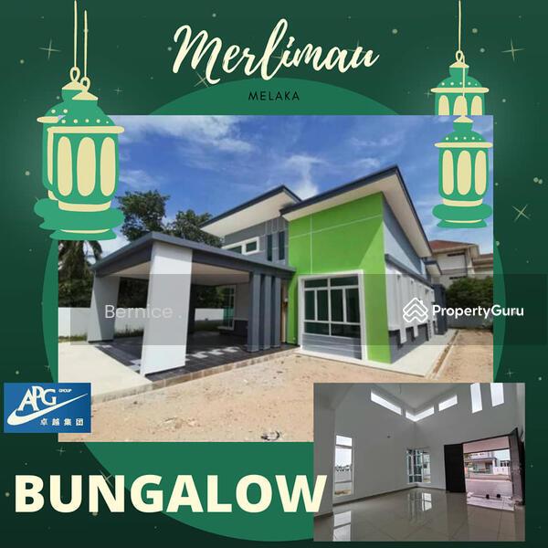 single  storey  bungalow  merlimau  melaka #163242876