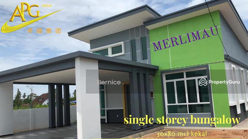 single  storey  bungalow  merlimau  melaka #163242894