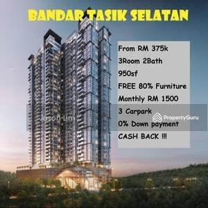 For Sale - bandar tasik selatan TBS Desa Tun razak Trillium Partly furnished 375k 800sqft