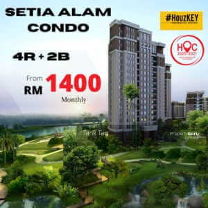 For Sale - 3-4ROOM CONDO SETIA ECO PARK(UP TO RM70K CASH BACK)&(MONTHLY FROM RM1200) LIFESTYLE MALL
