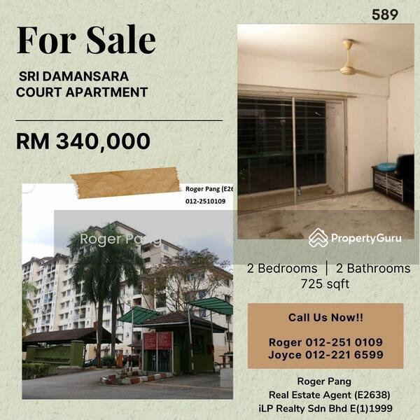 Sri Damansara Court Apartment For Sale #166372082