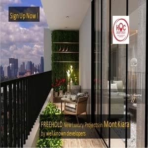 Dijual - [ HOC 2021 ] Brand New Hoc Luxurious Projects In Mont Kiara by Branded Developer, Low Density