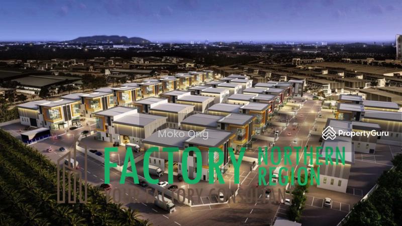 Light Industry Semi Detached Factory #164581520