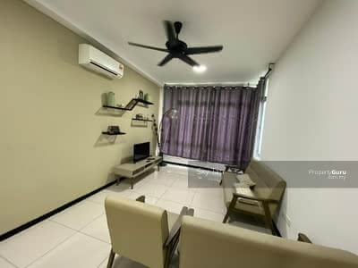 For Rent - The Seed Townhouse Taman Sutera Utama Furnished 1st Floor Gated