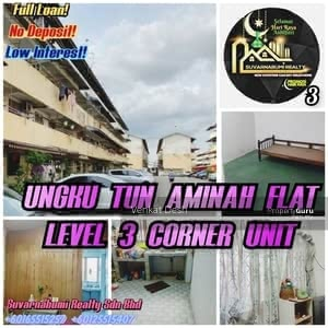 For Sale - UNGKU TUN AMINAH FLAT LEVEL 3 CORNER UNIT FULL LOAN JOHOR BAHRU