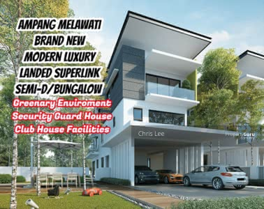 For Sale - Greenary Superlink Landed Gated Guarded House Club House Facilities HOC 0 D/P Ampang Ukay Melawati