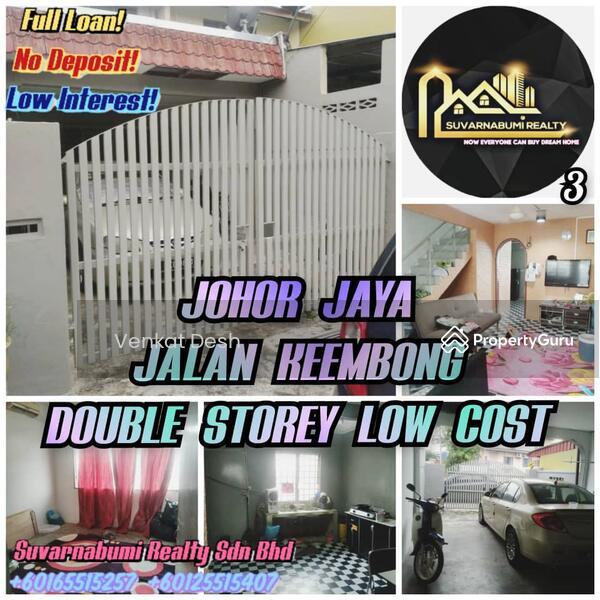 JOHOR JAYA JALAN KEEMBONG DOUBLE STOREY LOW COST FULL LOAN JOHOR BAHRU #164882370