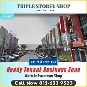 For Sale - New Buz Zone Ready Tenant 3 Sty Shop Kota Syahbandar Laksamana Melaka