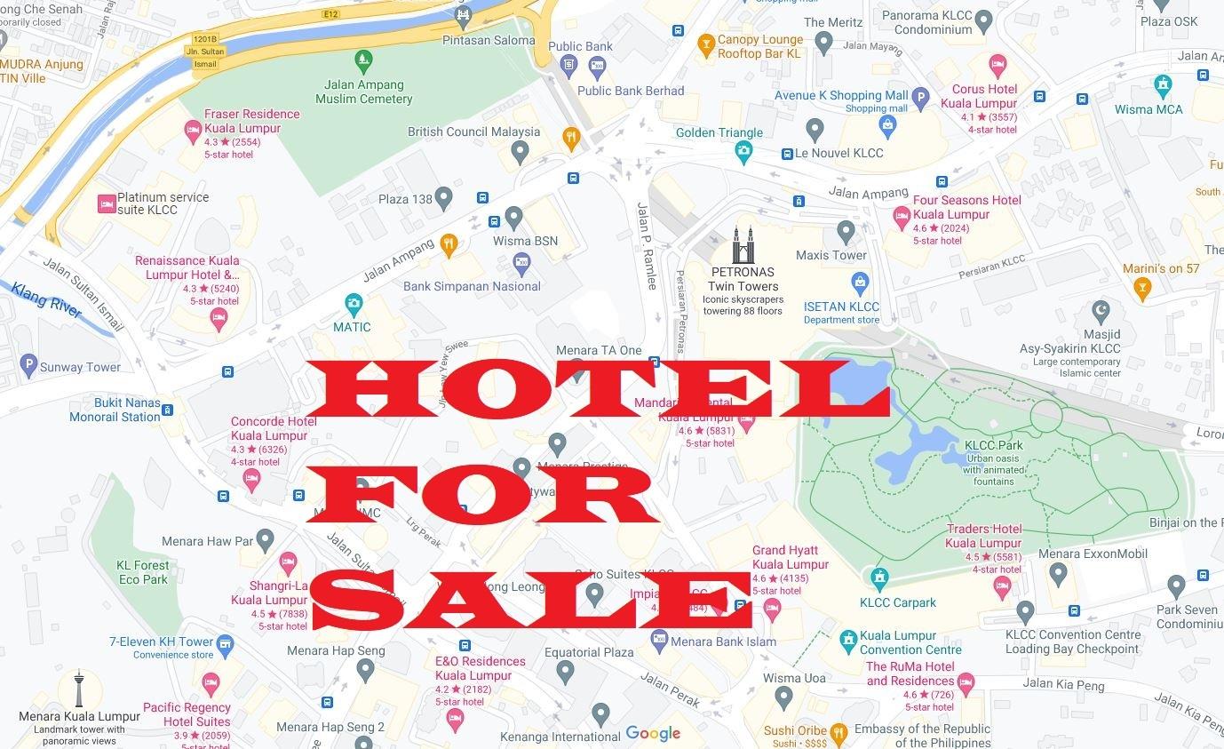 For Sale - 5-Star Hotel Near KLCC, Kuala Lumpur