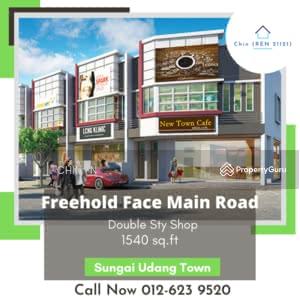 For Sale - Freehold Face Main Road 2 Sty Shop Tmn Bertam Putra Sungai Udang Melaka