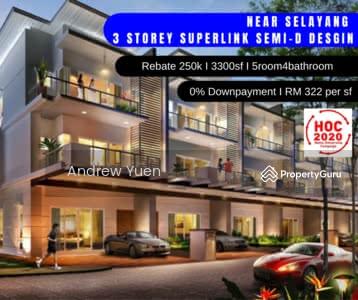 For Sale - [Rebate 15%]Selayang 3 Storey BIG Superlink 3300sf READY MOVE 2022