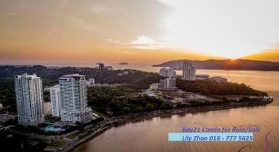 For Sale - Bay21 High End Condo | Renovated , Fully Furnished | Big Unit , High Floor | KK City