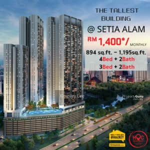 For Sale - Freehold Luxury Condo Nice View | Near to Setia City Mall [ Cashback + HOC Package ]
